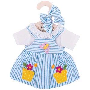 Kledingset 30 cm Blauw gestreepte jurk Medium