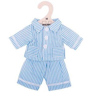 Kledingset 30 cm Blauw gestreepte pyjama Medium