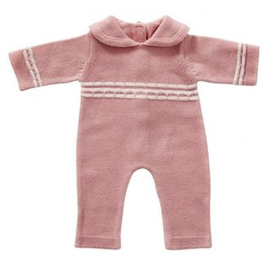 Gebreid babypakje roze 45 cm