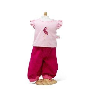 Corduroy broek met roze t-shirt 38-41 cm