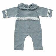 Gebreid babypakje blauw 35 cm