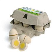 6 Eieren om te snijden in een eierdoos
